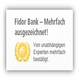 Fidor Bank_ausgezeichnet